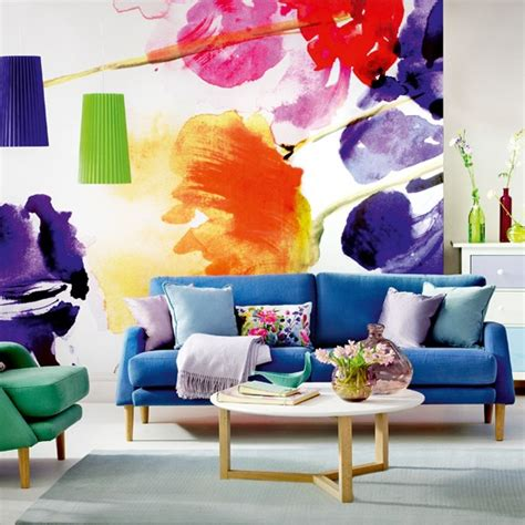 Decorating Ideas To Brighten A Room Living Room Wall Mural Decorating Ideas To Brighten Up