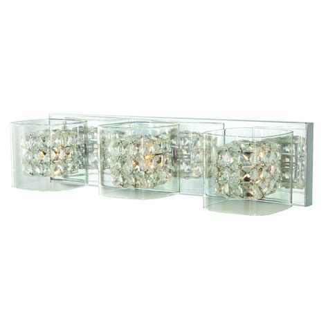 polished chrome vanity light home decorators collection cube 3 light polished