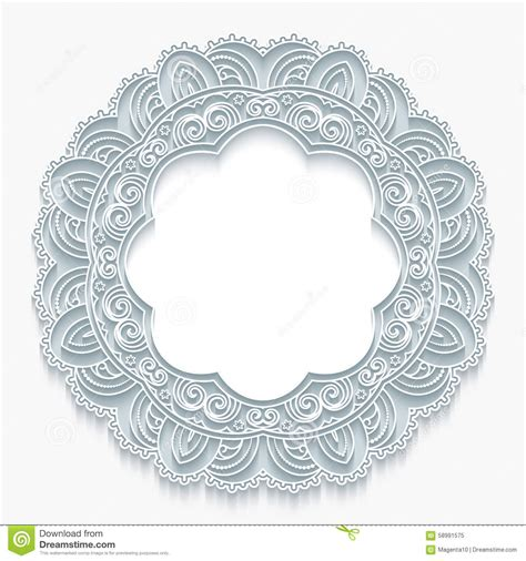 paper lace templates card lace frame stock vector image 58991575
