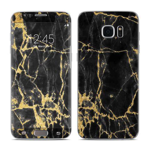 Black Gold F0302 Samsung Galaxy S7 Edge Custom Cover samsung galaxy s7 edge skin black gold marble by marble collection decalgirl