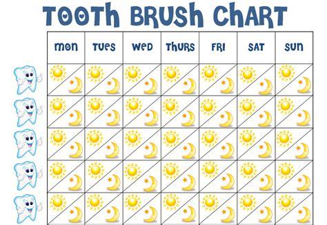 printable tooth brushing reward chart brush your teeth chart bing images