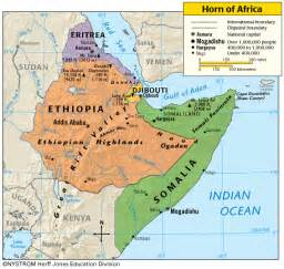 horn map horn of africa map pictures