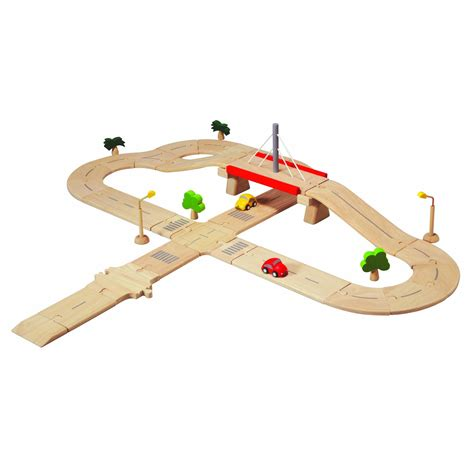 Plan Toys Garage by Plan Toys Deluxe Road System Planworld