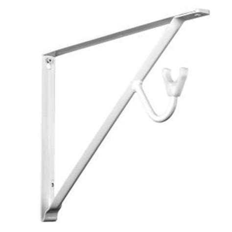 Closet Rod Holder Home Depot by Closet Pro 14 In White Shelf And Rod Bracket Rp 0496 Wt