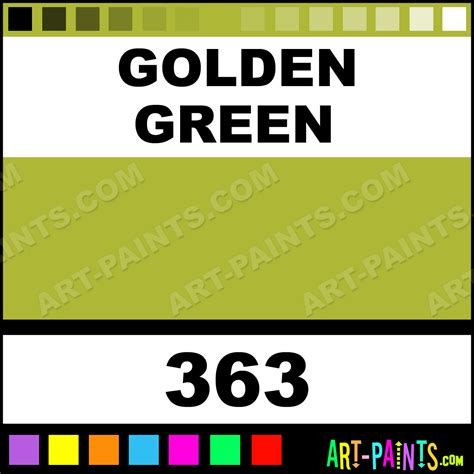 golden green aquarelle watercolor paints 363 golden green paint golden green color block x