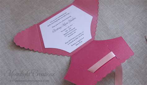 Handmade Baby Shower Invitations - metallic pink baby shower invitation moonlight