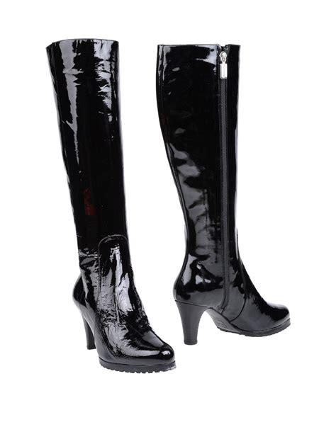 bruno magli boots bruno magli highheeled boots in black lyst