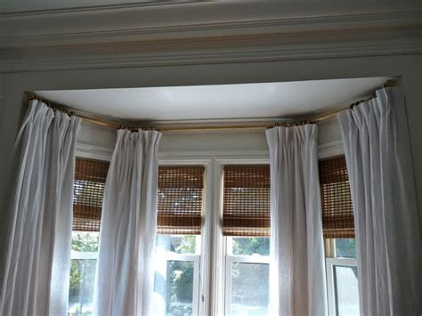 curtain rods for bow windows best 25 bow window curtains ideas on bay