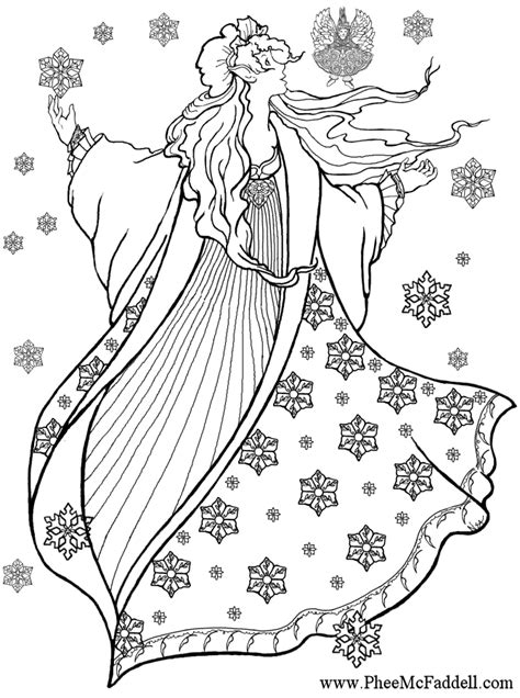 barbie winter coloring pages winter sprite black and white to color coloring and craft