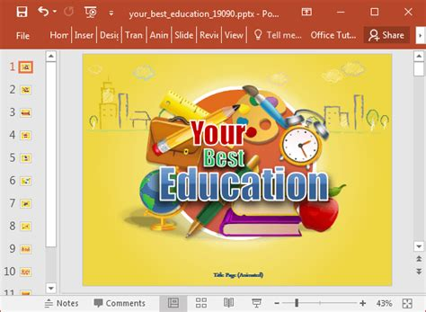 education templates free animated best education powerpoint template