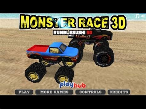 monster truck racing games 3d monster truck race 3d car racing games games for kids