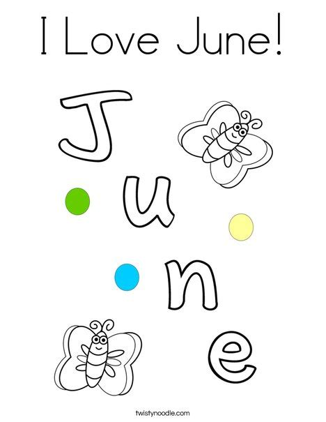 coloring pages for june i love june coloring page twisty noodle