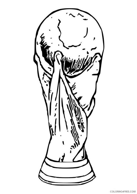 coloring pages fifa world cup soccer coloring pages world cup trophy coloring4free