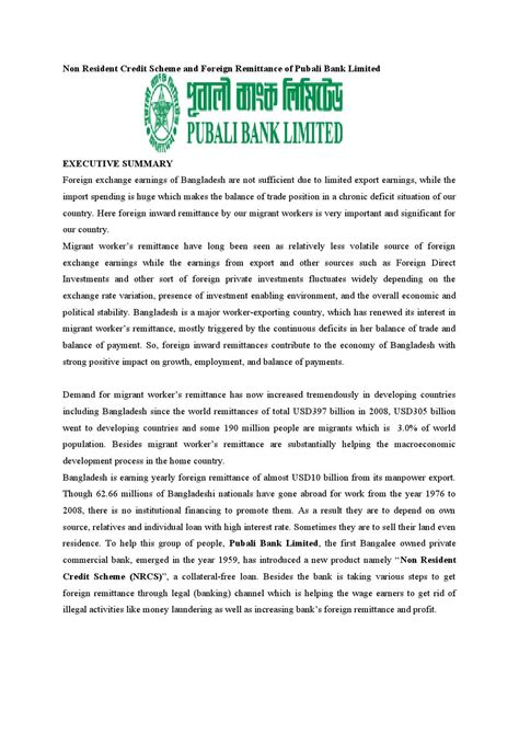 appointment letter bangladesh non resident credit scheme and foreign remittance of