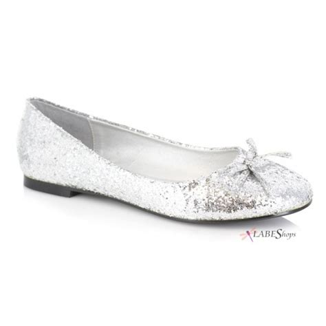 Sepatu Flat Shoes Cewe Glitter Silver mila glitter covered ballet flat shoes for