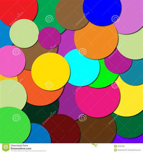 different colors circles of different colors stock vector image 25507322
