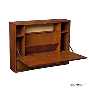 wall mounted desk amazon amazon com wall mount laptop desk brown mahogany