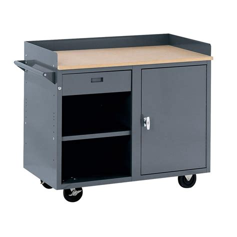 edsal bench edsal 42 in w x 24 in d workbench with storage mb301