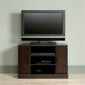 menards tv stands sauder beginnings cinnamon cherry corner tv stand at menards 174