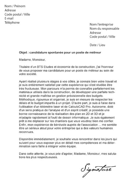 Lettre De Motivation Stage Génie Civil lettre de motivation dut genie civil