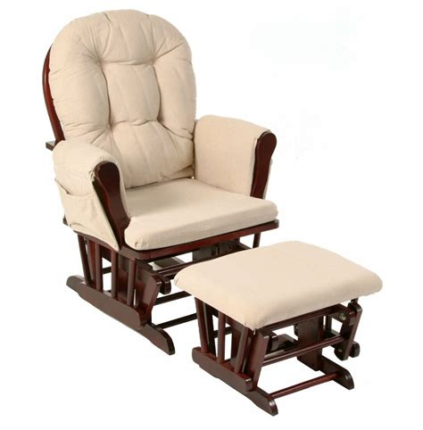 Baby Chair And Ottoman Wood Rocker Chair And Ottoman Feeding Baby Living Room Furniture Modern Ergonomic