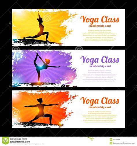 banner design for yoga yoga banner set stock vector image 50594894