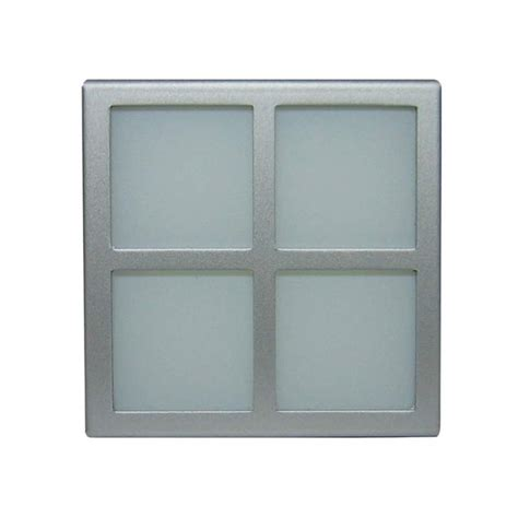 window frame only 240v silver square window frosted