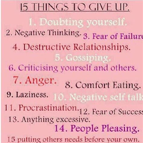 15 things to give up trusper