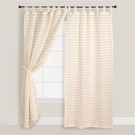 world market curtains sale ivory striped sahaj jute curtains set of 2 stripes
