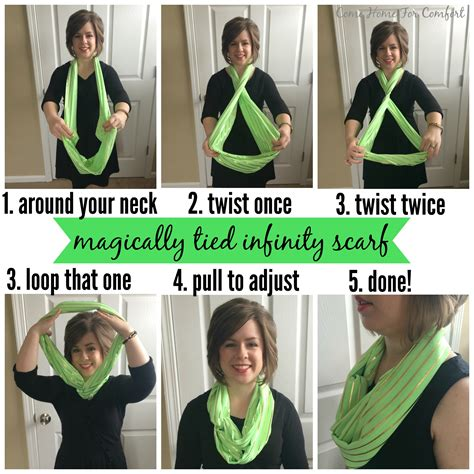 how to wear infinity scarves without all the bulk