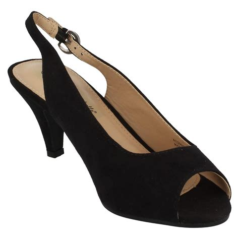 Peep Toe Shoes By Monsoon by Wide Fit Peep Toe Sling Back Shoes