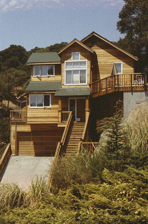 steep slope house plans steep hillside house plans escortsea