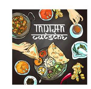 hand drawn indian food elements vector 04 vector food