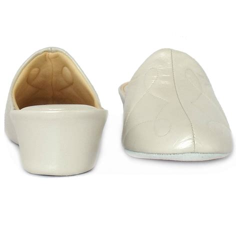 white house shoes relax slippers dulcie dressy oyster leather wedge slippers mozimo