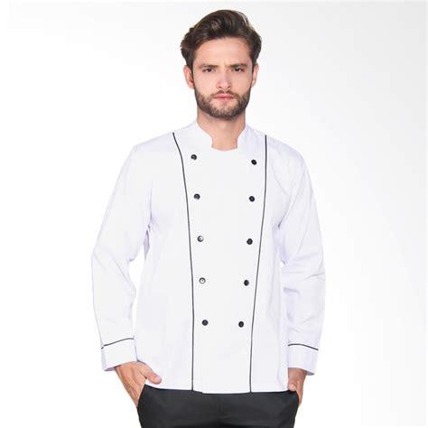 desain baju chef jual chef series basic tangan panjang baju koki putih
