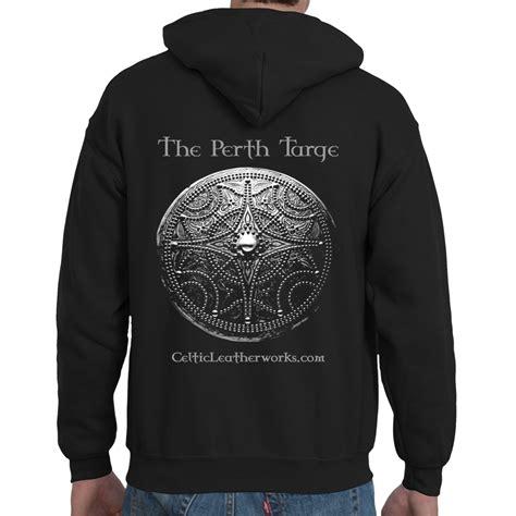 Hoodie Design Perth | the perth targe pocket hoodie celtic leatherworks