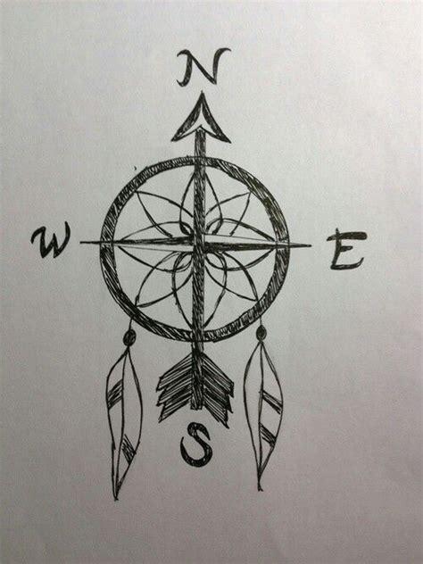 compass dreamcatcher tattoo dream catcher compass fearless pinterest