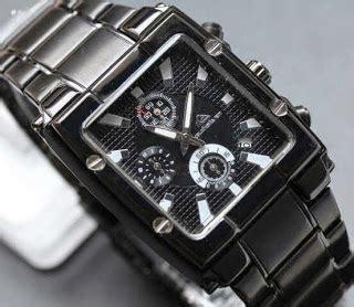 Jam Tangan Quiksilver Segi Empat jam tangan casio murah quicksilver kotak chrono fullblack