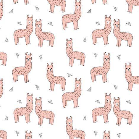 cute llama pattern alpaca pink alpaca fabric cute llama print pattern