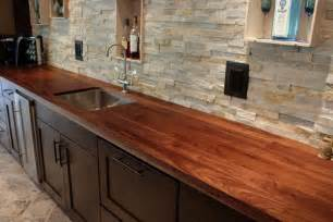 How To Build A Wood Bar Top by How To Build A Bar With A Butcher Block Countertop Apps