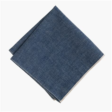 Square Pocket the hill side japanese selvedge chambray pocket square s pocket squares j crew