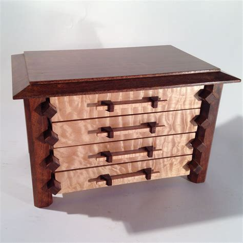 make jewelry box crafted pagoda style jewelry box in quilted maple and