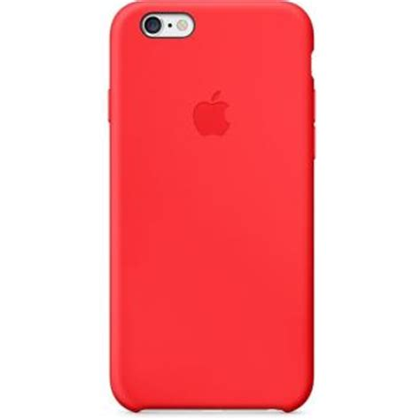 coque apple pour iphone  silicone rouge etui pour