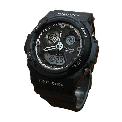 Fortuner Jam Tangan Pria Silver Stainless Hitam Fr 3021 jual fortuner fr x8095213 dualtime jam tangan pria