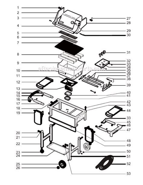 weber genesis parts diagram weber 6340001 parts list and diagram 2004