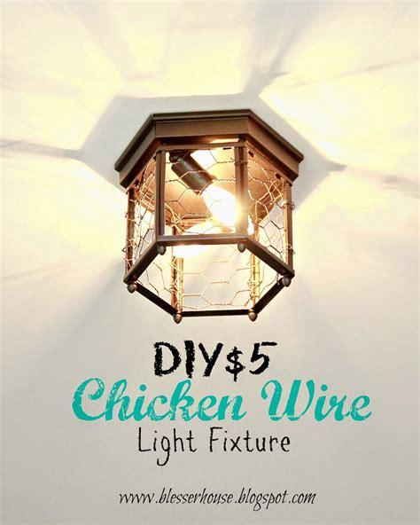 chicken wire light fixture thrifted chicken wire light fixture bless er house