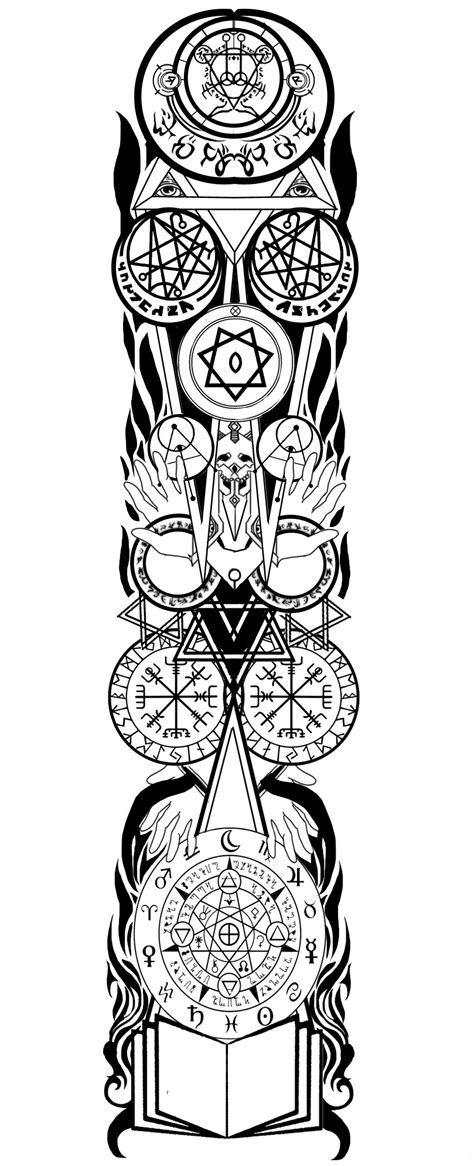 warlock tattoo designs warlock sleeve by tiamatrouge on deviantart