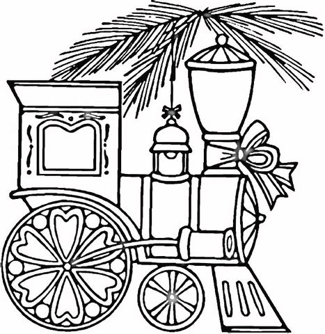 coloring pages christmas train christmas train coloring page supercoloring com