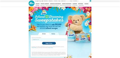Hgtv 25000 Giveaway - islanddreamsweeps com hgtv and snuggle island dreaming sweepstakes