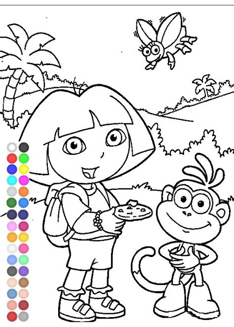 dora the explorer coloring games free kids coloring